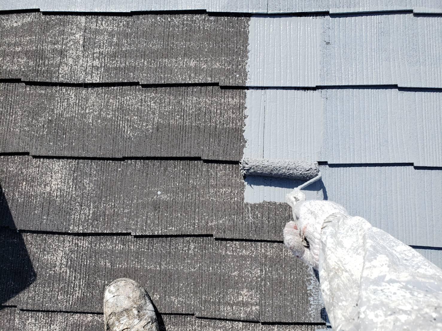 屋根した塗り